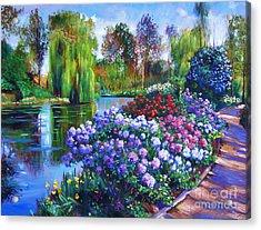 Spring Park Acrylic Print by David Lloyd Glover