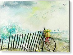 Bicycle Ride. Mayflower Storm. Acrylic Print by Mark Tonelli