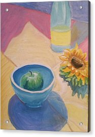 Acrylic Print featuring the painting Spring Picnic  by Carol Duarte