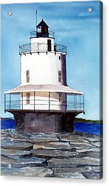 Spring Point Ledge Light Acrylic Print by Anne Trotter Hodge