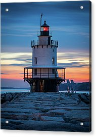 Spring Point Ledge Light Blue Hour II Acrylic Print