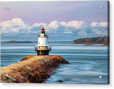 Acrylic Print featuring the painting Spring Point Ledge Lighthouse by Christopher Arndt