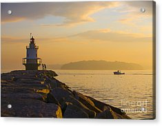 Spring Point Lighthouse At Dawn. Acrylic Print