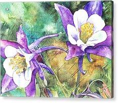 Spring Rain Acrylic Print by Casey Rasmussen White