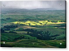 Spring Rain Falls On The Palouse Acrylic Print by Jerry McCollum
