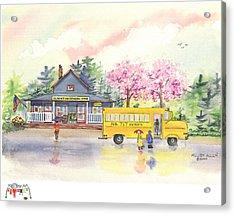 Spring Rain Acrylic Print by Melody Allen