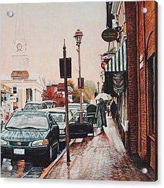 Spring Rain Acrylic Print by Thomas Akers