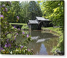 Spring Reflections Of An Ancient Mill Acrylic Print
