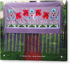 Acrylic Print featuring the tapestry - textile Spring Rising by Chholing Taha