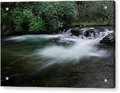 Acrylic Print featuring the photograph Spring River by Mike Eingle