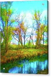 Spring River Rambling Acrylic Print