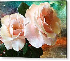 Acrylic Print featuring the photograph Spring Roses by Gabriella Weninger - David