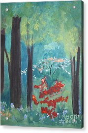 Acrylic Print featuring the painting Spring by Sandy McIntire