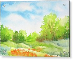Acrylic Print featuring the painting Spring Scene by Inese Poga