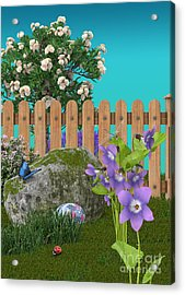 Acrylic Print featuring the digital art Spring Scene by Mary Machare