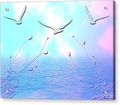 Spring Seas Acrylic Print by Evelyn Patrick