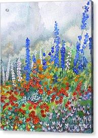 Spring Serenade Acrylic Print by Val Stokes