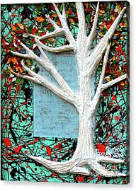 Acrylic Print featuring the painting Spring Serenade With Tree by Genevieve Esson