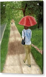 Acrylic Print featuring the painting Spring Series I by Patricia Cleasby