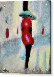 Spring Showers And Shopping Acrylic Print by Steve Park