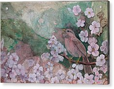 Spring Song Acrylic Print by Sandy Clift