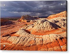 Spring Squall At White Pocket Acrylic Print by Johnny Adolphson