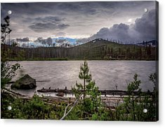 Acrylic Print featuring the photograph Spring Storm At Round Lake by Cat Connor