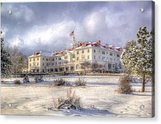 Spring Storm At The Stanley Hotel Acrylic Print