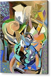 Acrylic Print featuring the digital art Spring Studio II by Clyde Semler