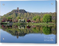 Spring Sugarloaf With Reflections Acrylic Print