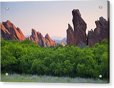 Spring Sunrise At Roxborough Acrylic Print