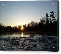 Spring Sunrise Over Mississippi River Acrylic Print by Kent Lorentzen