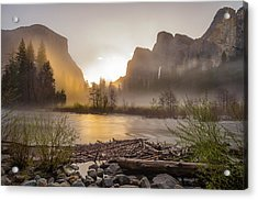 Acrylic Print featuring the photograph Spring Sunrise Valley View Yosemite National Park  by Scott McGuire