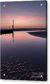 Spring Sunset Acrylic Print by Adrian Evans