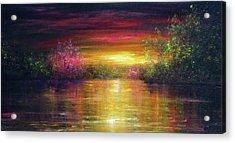 Spring Sunset Acrylic Print by Ann Marie Bone