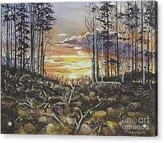 Spring Sunset Acrylic Print
