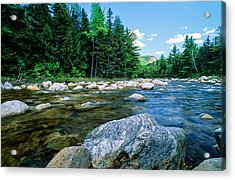 Spring-swift River Nh Acrylic Print by Michael Hubley