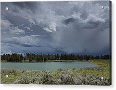 Spring Thunderstorm At Yellowstone Acrylic Print