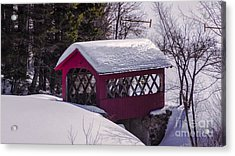 Spring Time At Vergennes Falls. Acrylic Print