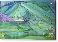 Spring Time In Thimpu Acrylic Print by Duygu Kivanc