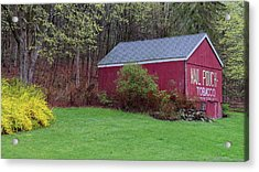 Acrylic Print featuring the photograph Spring Tobacco Barn by Bill Wakeley
