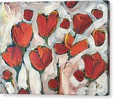 Spring Tulip Garden Acrylic Print