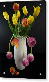 Spring Tulips In Vase Acrylic Print