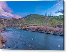 Acrylic Print featuring the photograph Spring Twilight Along The Truckee River Reno Nevada by Scott McGuire