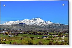 Acrylic Print featuring the photograph Spring View Of Squaw Butte by Robert Bales
