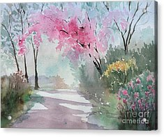 Spring Walk Acrylic Print by Yohana Knobloch