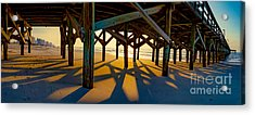 Springmaid Pier At Sunrise Acrylic Print
