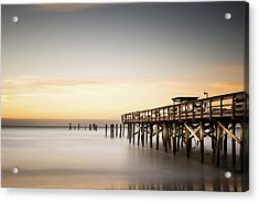 Springmaid Pier Mathew Aftermath Acrylic Print by Ivo Kerssemakers