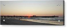 Springmaid Pier Sunrise Acrylic Print by Gordon Mooneyhan