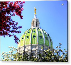 Acrylic Print featuring the photograph Spring's Arrival At The Pennsylvania Capitol by Shelley Neff